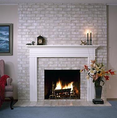 painting an brick fireplace
