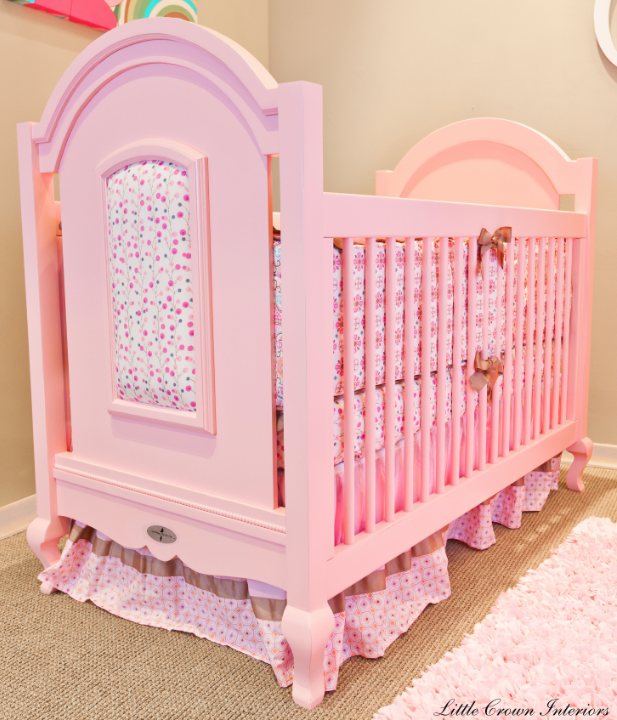Baby rooms decor baby crib bedding for Baby cot decoration images