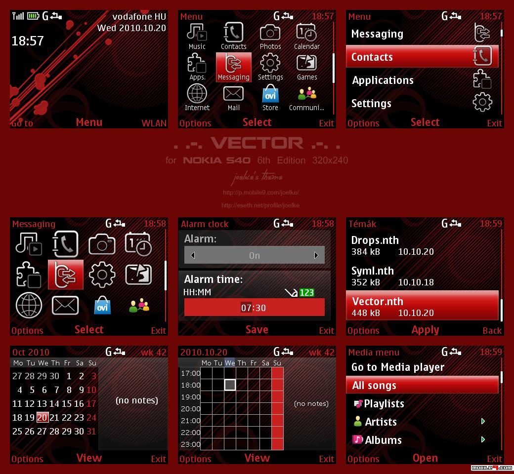 para seu Nokia 5310, X2, 5130, X3: 18 temas para o Nokia C3