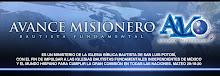 Página principal de Avance Misionero.