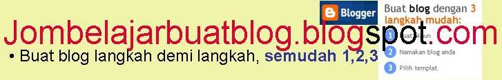 Jom Belajar Buat Blog
