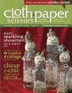 Featured in the Nov/Dec issue of Cloth Paper Scissors