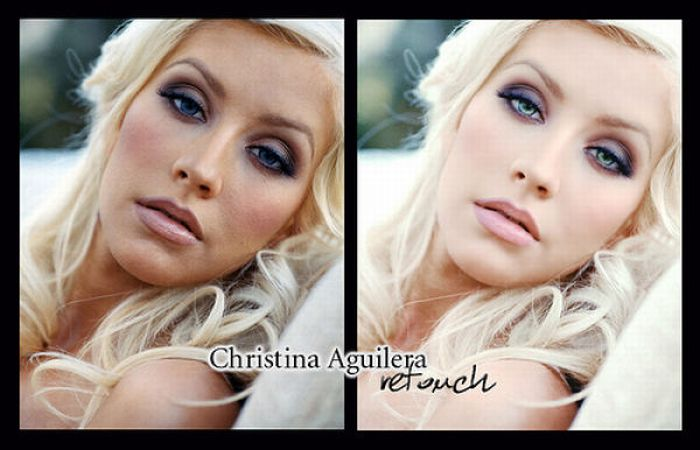 Before And After Photoshopped Celebrities. Celebs before and after