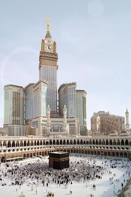 Menara Jam Makkah Bersinar, Tandai Awal Ramadan