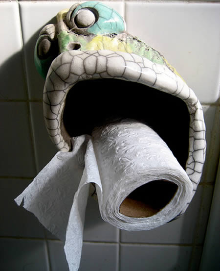 Funny Unusual Toilet Paper Holder Curious Funny Photos