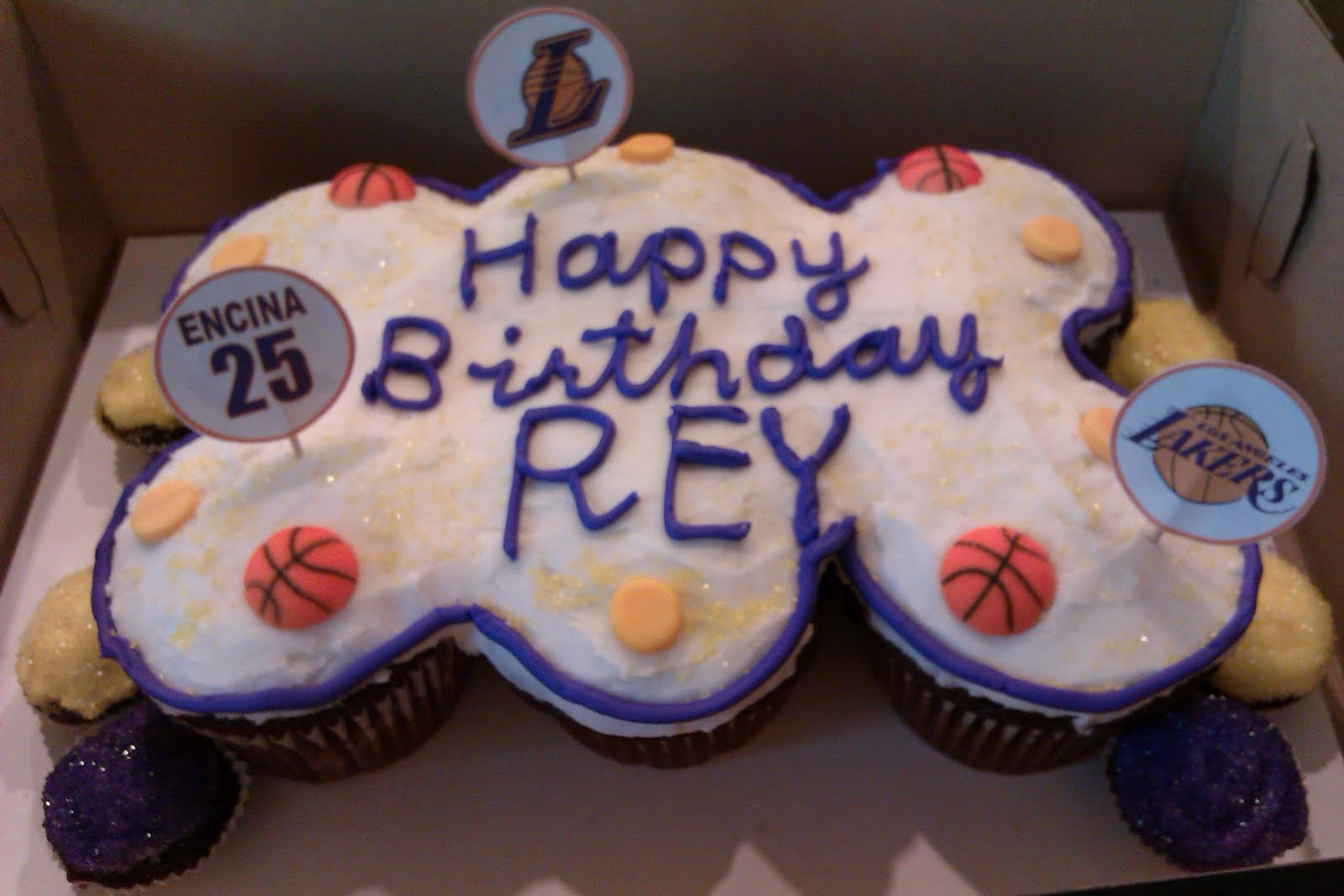 C Cakes Lakers Inspired Birthday Cake