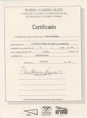 Certificado TCA -
