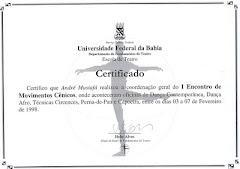 Certificado Encontro de Movimentos Cênicos