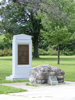Indian Monument and Turkey Foot Rock, Fallen Timbers