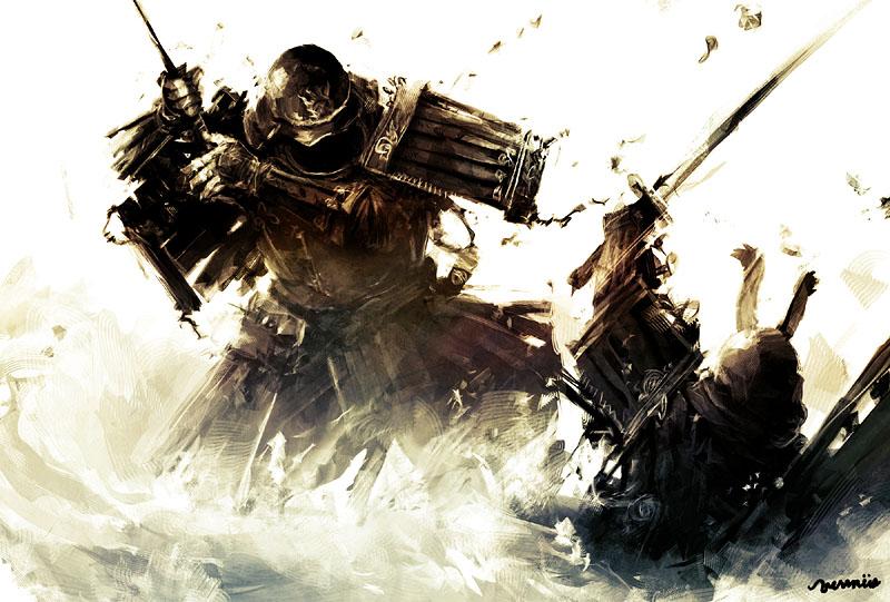stock vector Samurai Warrior