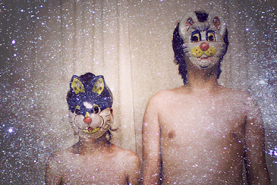 cat mask, bunny mask, rabbit mask, animal masks, topless