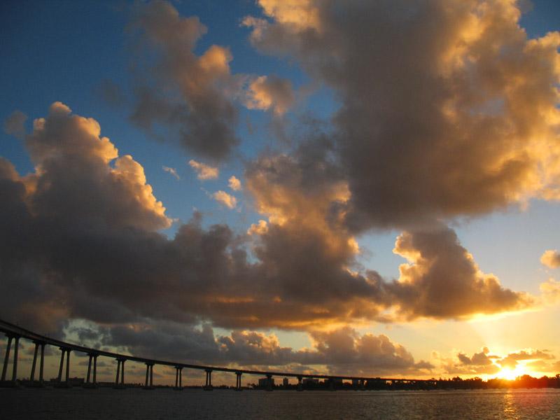 the sun sets behind coronado; click for previous post