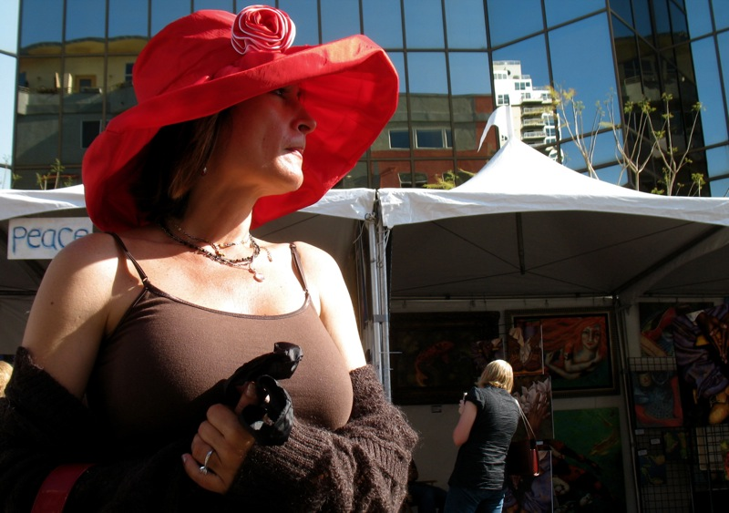 Woman in a red hat; click for previous post