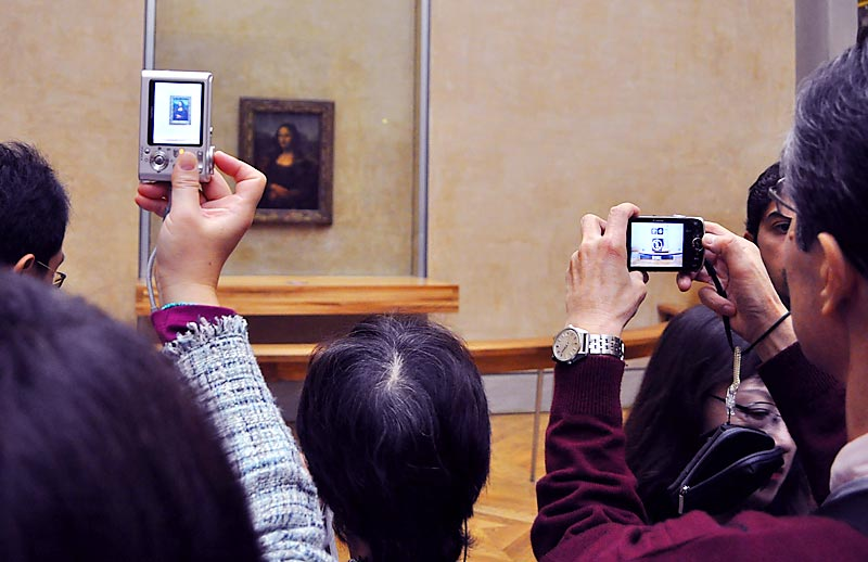 Viewing the Mona Lisa; click for previous post