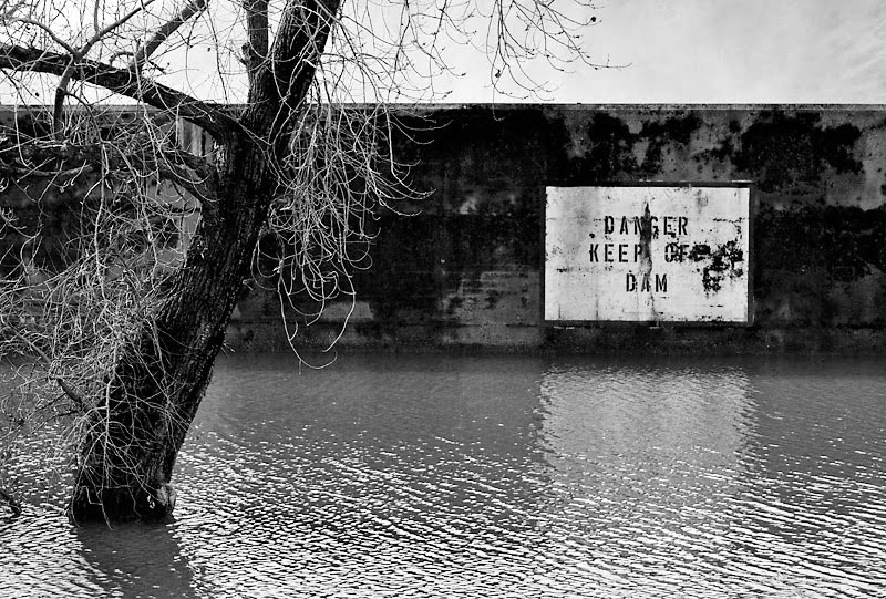 Danger keep off dam; click for previous post