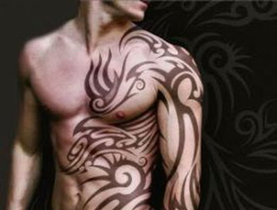 Shoulder and Chest Tribal Tattoo. Sponsored Ads. tattoos gallery,tatto