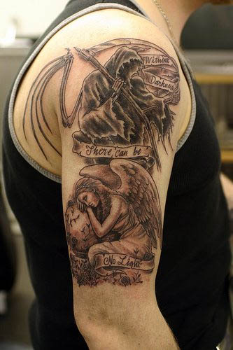 angel cross tattoo. Free tatoos Angel tattoos are