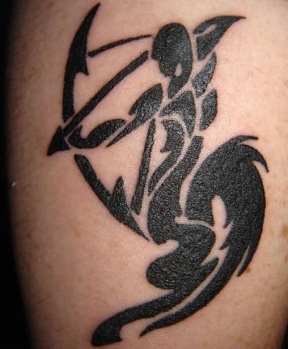 Zodiac Tattoo Designs With Image Zodiac Symbol Picture Aries Tribal Tattoo 6
