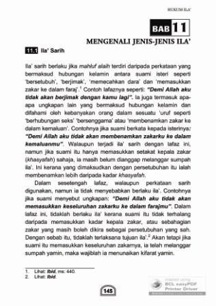 Buku Zihar dan Ila': Bab 11