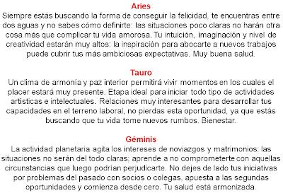 Horoscopo de hoy test de amor frases pareja relacion for Espectaculos del dia de hoy en mexico