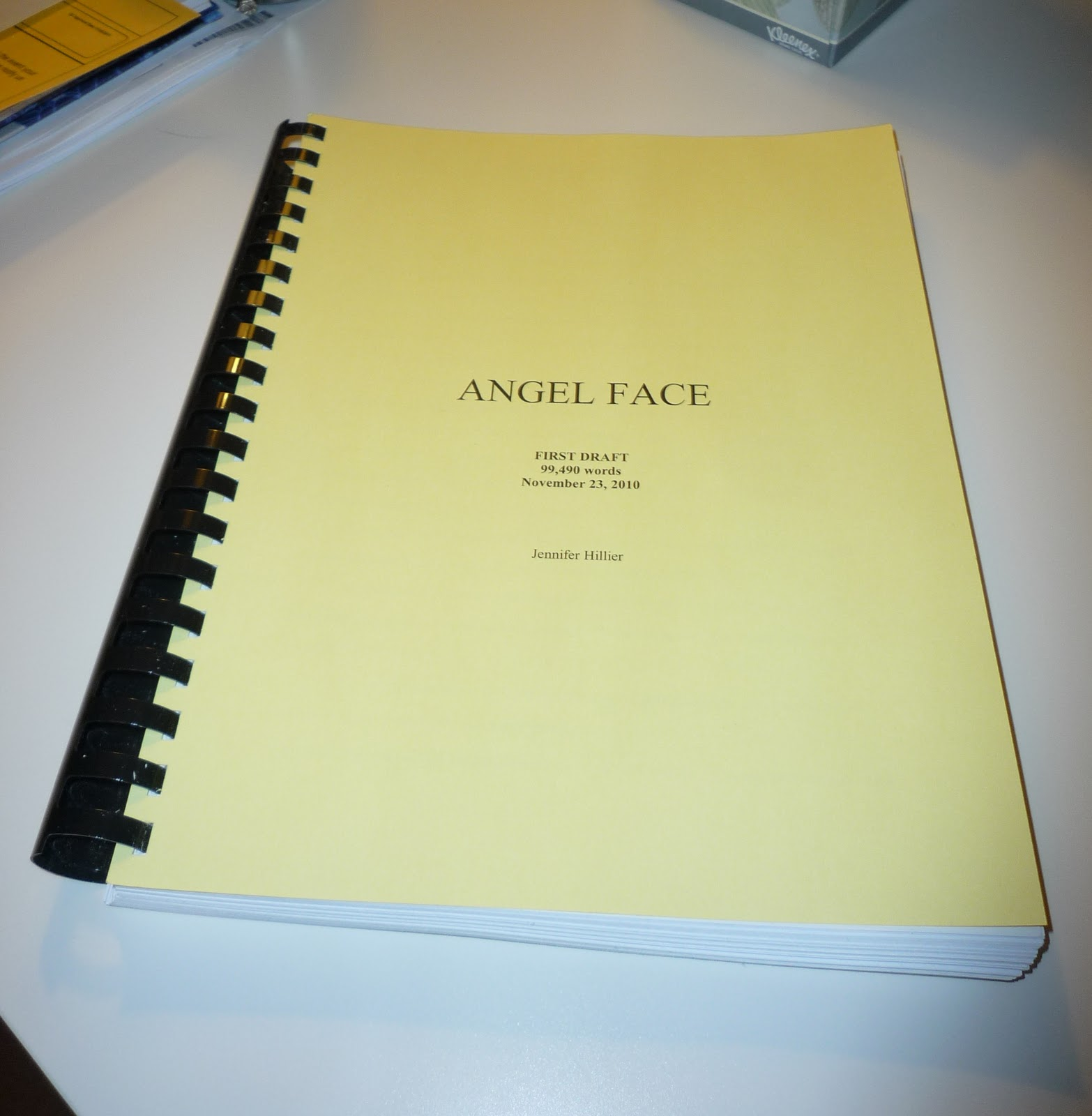 Oh, And I Did Finallye Up With A Working Title As I Was Finishing The  Draft Back In November: Angel Face We'll See If It Sticks