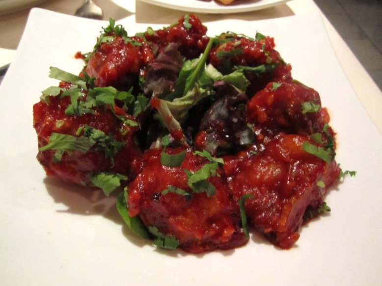 manchurian roasted garlic scallion soy sauce coated crisp cauliflower ...