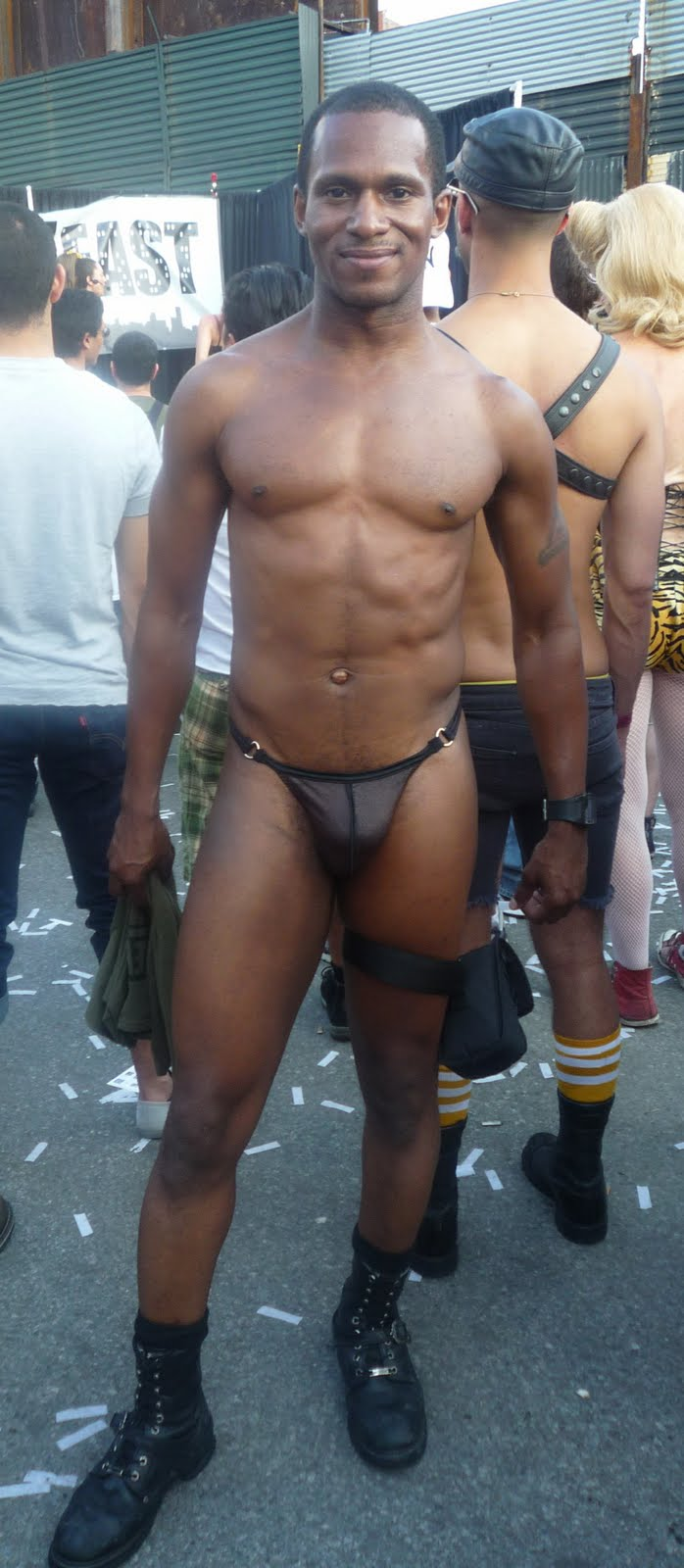 nude-black-man-in-a-thong