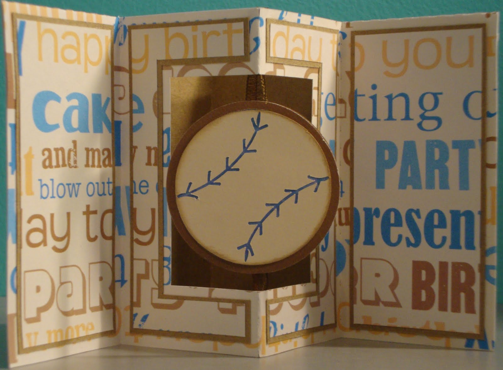 Passion4Papercrafts: Pop-Out Frame Card - It\'s a Baseball Birthday