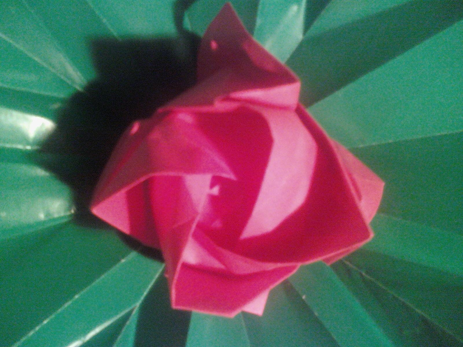 Origami: Origami rose - photo#24