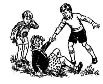 Figure 1: Offer a hand to those who fall down