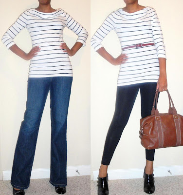 Looking Back, Looking Forward: Gap Striped Cowlneck T