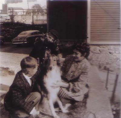 Cousins Bobbie & Dickie, Lassie, & Del - Vose St. - 1955