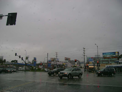 Raining at Westwood & Santa Monica Blvd. - West L.A.