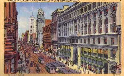 San Francisco, Market Street - Postcard