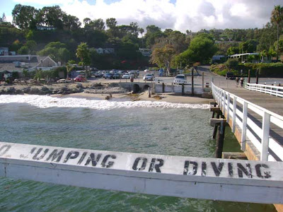 No Jumping or Diving - Paradise Cove Pier