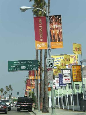 Driving Eastbound Hollywood Boulevard