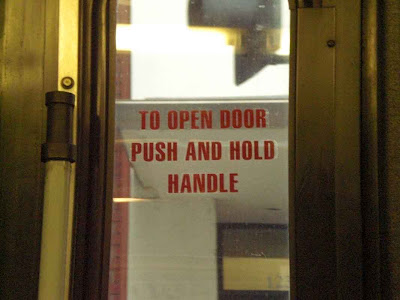 To Open Door Push and Hold Handle - Santa Monica