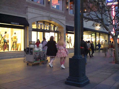 Pink Princess and Lady Stockings at the Promenade - Santa Monica