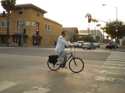 White Rider at Dusk - Santa Monica