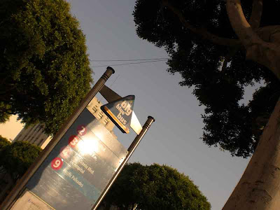 The Big Blue Bus Stop - 5th and Santa Monica Blvd