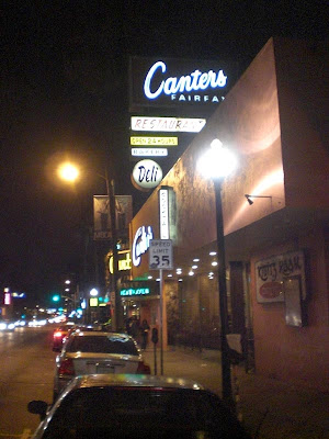 Parking at Canter's - Fairfax