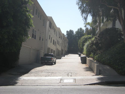 Alley behind Holloway apartment where Sal Mineo was stabbed in his heart.