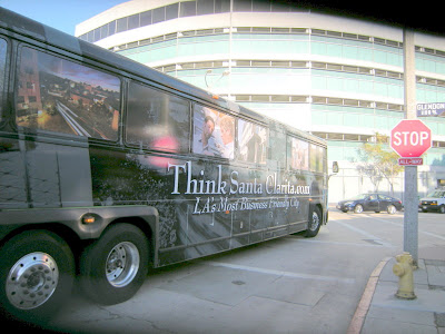 Santa Clarita Bus in Westwood Village