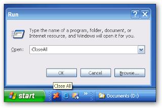 chiudere finestre aperte con un clic