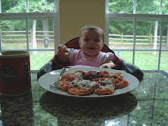 Natalya eating Daddys breakfast