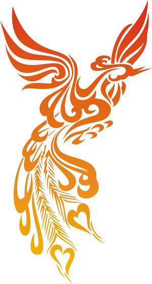 Tattoo design Phoenix bird 2