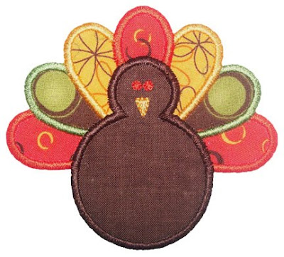 TURKEY APPLIQUE PATTERN - APPLIQUE DESIGNS