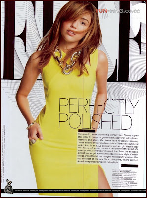 Miley Cyrus - August 2009 Elle Magazine Scans