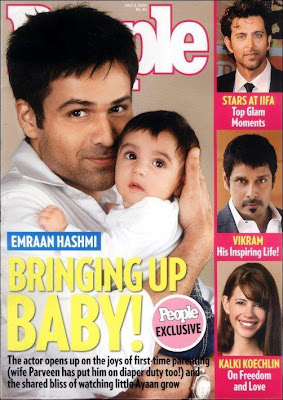 Bollywood actor Emraan hashmi on People Magazine with Son Ayaan