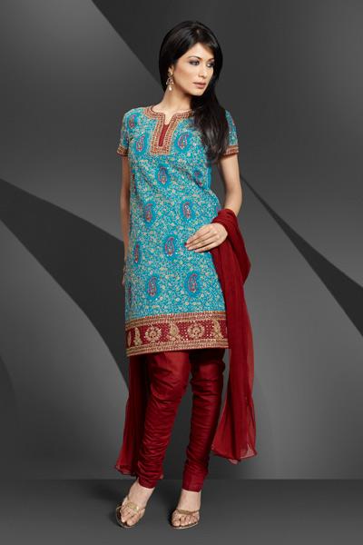 Skin Tight Churidars, Silk Shining Churidars for Modern Girls 2011, salwar suit designs